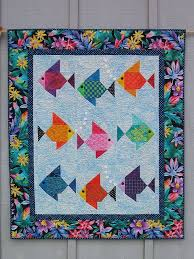 Swimmies! Fish Quilt by Lisa Boyer | Fish quilt, Fish and Lisa & A nine fish version of my original