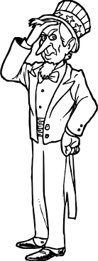 American Revolution Uncle Sam Cartoon Patriotic Coloring Page ...