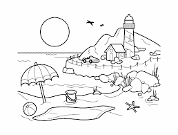 Nature Scenery Coloring Pages Page Pedia In Tingamedaycom