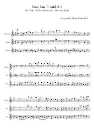 Inner Light Star Trek Sheet Music Jean Luc Picard Air Sheet Music Download Free In Pdf Or Midi