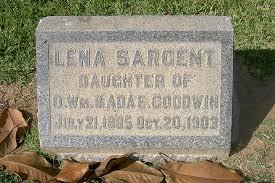 Lena Sargent Goodwin (1885-1903) - Find A Grave Memorial