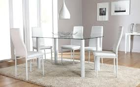 glass table with white chairs medium size of chairs round white high gloss