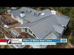 effect of metal roof colors you