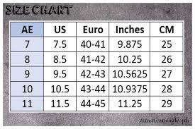 American Eagle Size Chart
