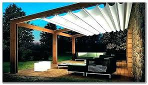 pergola sun shade patio retractable for shades phoenix triangle outdoor sail canopy manual fabric