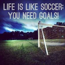 Soccer Quote Life Is Like Soccer You Need Goals Custom Soccer Quotes