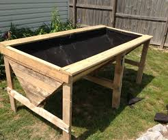 furniture of pallets. Raised Planter Bed From Pallets Furniture Of E