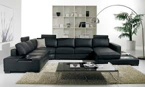 black leather couch. Amazon.com: T35 - Black Bonded Leather Sectional Sofa With Headrests: Kitchen \u0026 Dining Couch F