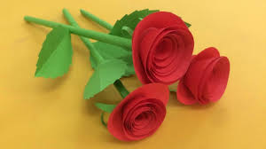 Make Flower With Paper How To Make Small Rose Flower With Paper Making Paper Flowers Step