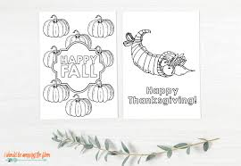 Select from 35429 printable crafts of cartoons, animals, nature, bible and many more. Free Thanksgiving Cards To Color I Should Be Mopping The Floor
