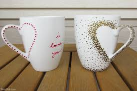 diy craft project sharpie mug tutorial custom heart handle mugs that require no artistic