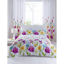 catherine lansfield fl bloom fl cotton rich duvet set