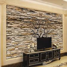 5d custom photo wallpaper 3d stone wall