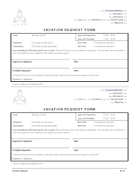 2010 Employee Vacation Request Form Employee Forms Pinterest