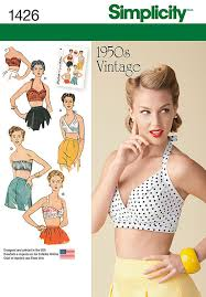 Simplicity Patterns On Sale Simple Vintage 48's Bra Halter Tops Simplicity 48 Sewing