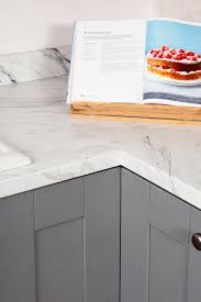 our white marble laminate worktops are an affordable way to update your kitchen