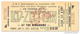 Led Zeppelin Concert Ticket Stub Beautiful Whole Ticket Fr Flickr