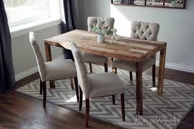 reclaimed wood dining chairs improbable ana white emmerson parsons table modern interior design 32