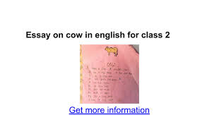essay on cow in english for class google docs