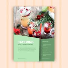 Abstract Catering Business Brochure Template Vector Free Download