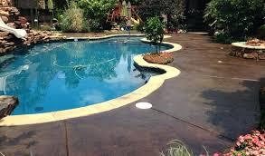 pool decks stained concrete pool deck and play area above ground pool decks diy pool decks