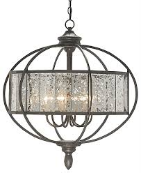 mercury glass chandelier in bronze orb with the designer insider decorations 3