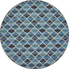 outdoor blue 8 x 8 round indoor outdoor rug