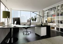 unique modern office chairs home. Sleek Modern Office Furniture Makes Stylish And Cool Atmosphere :  Fabulous Black Desk White Shelving Unique Modern Office Chairs Home