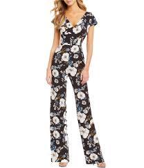 Gianni Bini Harper Floral Print V Neck Jumpsuit In 2019