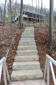 stone steps solution for steep slope