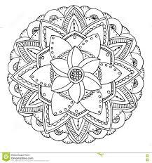 Mandala Da Colorare Illustrazione Di Stock Illustrazione Di