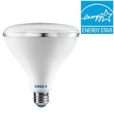 cree 120w equivalent bright white 3000k par38 dimmable led 45 degree flood light bulb