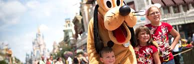 pluto with children on main street