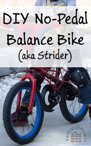 diy no pedal balance bike aka strider