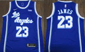 The logos and uniforms of the los angeles lakers have gone through many changes throughout the history of the team. Lebron James Lakers Nike 2019 2020 Blue Courtside Kix