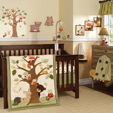 crib bedding for boys white painted wall wood