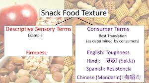 snack foods and their texture