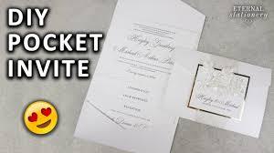 diy pocketfold invitation with printable pocket template wedding invitations