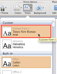 Create Custom Theme Fonts Using Xml In Powerpoint For Mac