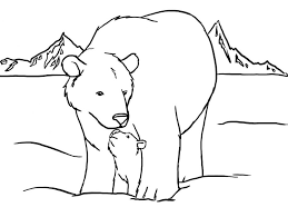 Small Picture Printable Polar Bear Coloring Pages Me Printables adult