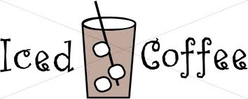iced coffee clipart black and white. Brilliant White Iced Coffee Sign Throughout Clipart Black And White