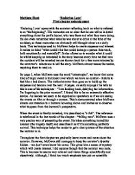 enduring love mcewan first chapter anlaysis essay enduring love  page 1 zoom in
