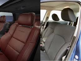 comparison leather car interior vs cloth car interior