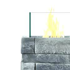 gray propane fire column outdoor art pros pit mini real flame small cover in buff