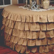 multi ruffle burlap round tablecloth 5 feet