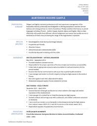 Sample Bartender Resume Resume templates for servers bartenders best of useful mixologist 79