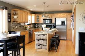 gray kitchen sherwin williams anonymous paint color diy tile backsplash maple kitchen cabinets