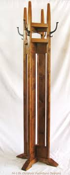 Vintage Standing Coat Rack Awesome Vintage Mission Style Coat Rack Wood Standing Coat Tree With