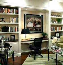 triple seated home office area. Home Office Library Ideas. Contemporary Ideas Small Interior Design Throughout Triple Seated Area