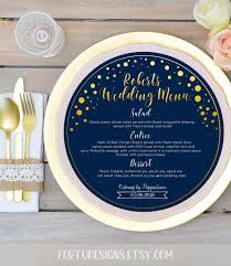 Round Menu Card Template Year Of Clean Water
